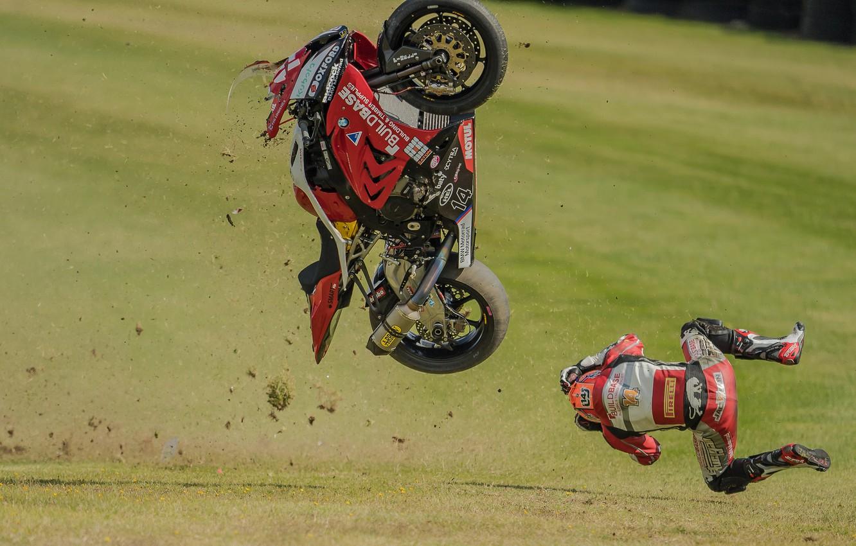 Photo wallpaper crash, the situation, drop, motorcycle, BMV, Motorsport, Lee Jackson