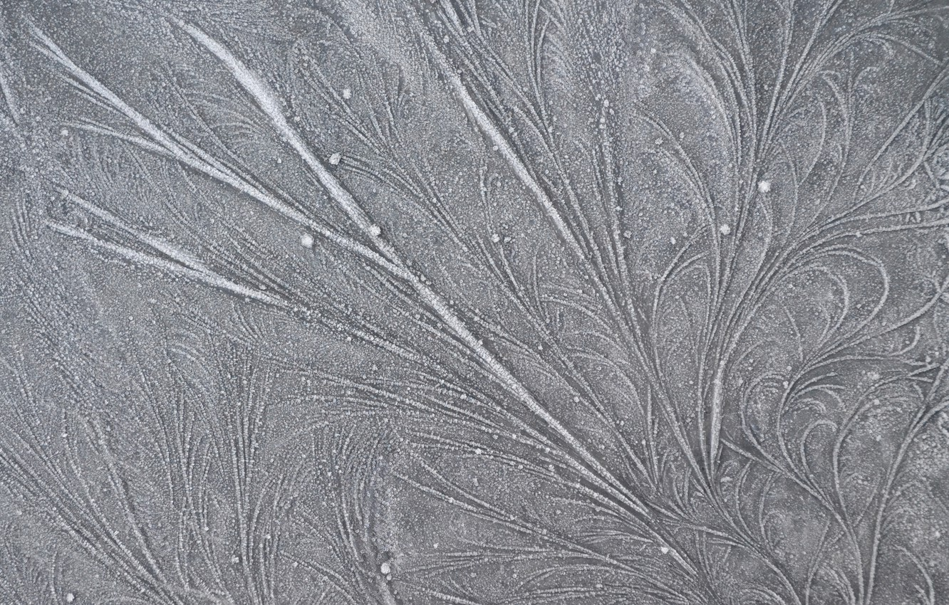 Photo wallpaper frost, line, patterns, frost