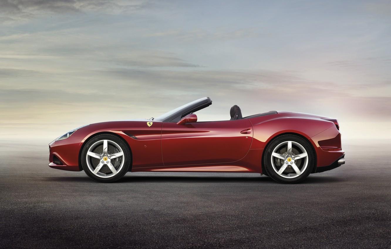 Photo wallpaper Red, Ferrari, Ferrari, California T, California T, Side View