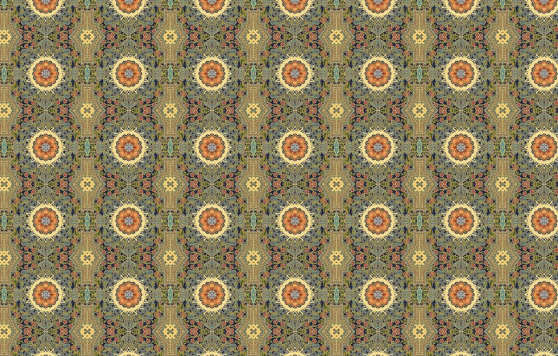 Photo wallpaper flower, background, Wallpaper, tile, texture, ornament, colorful, the sun, geometric shapes, floral patterns