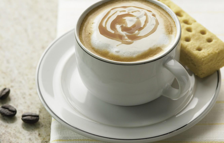 Photo wallpaper white, coffee, cookies, mug, Cup, saucer