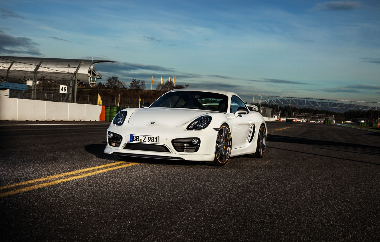 Photo wallpaper white, Porsche, Cayman, Porsche, TechArt, Caiman
