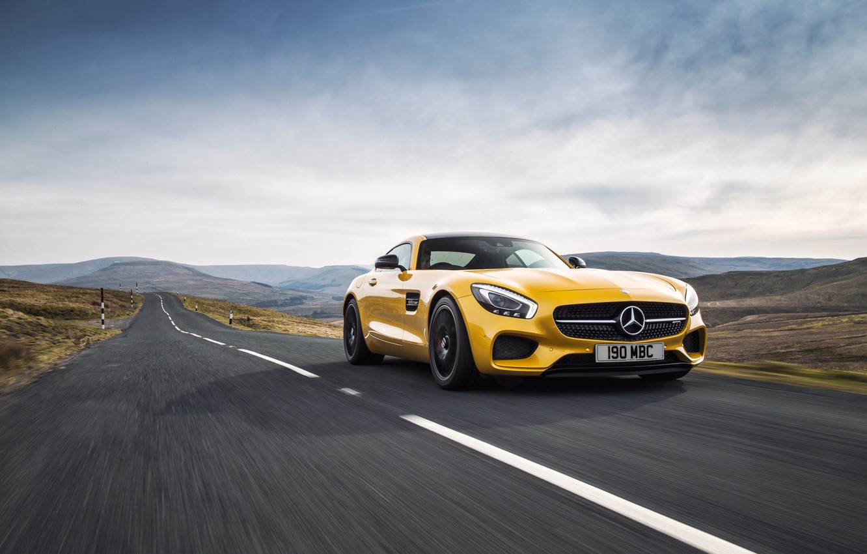 Photo wallpaper Mercedes, Mercedes, AMG, AMG, UK-spec, 2015, GT S, C190