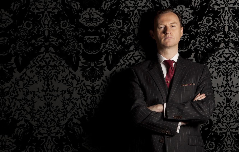 Photo wallpaper the series, serial, Sherlock, sherlock bbc, Mark Gatiss, Mark Gatiss, Mycroft Holmes, Mycroft Holmes