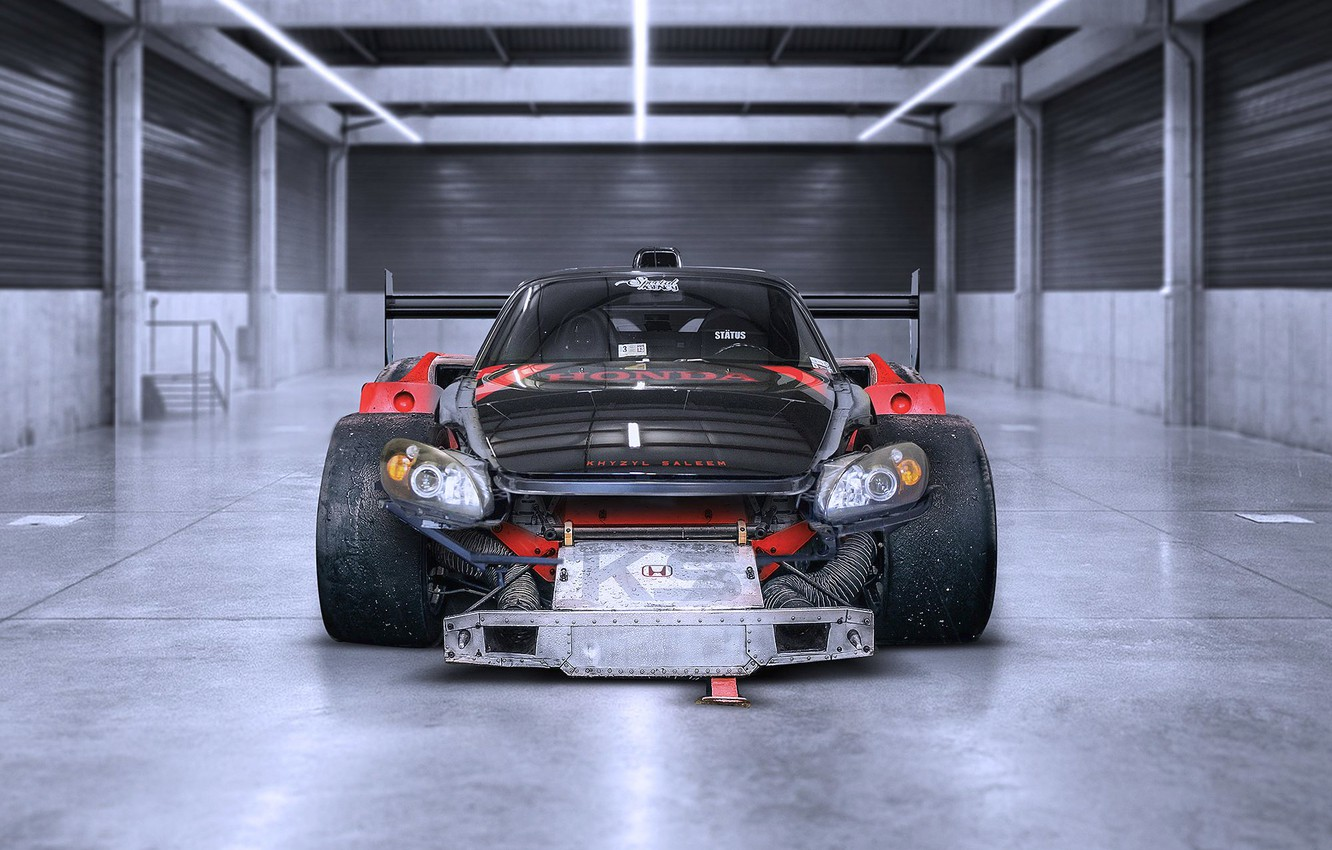 Photo wallpaper The Mans, Honda, Car, Front, Racing, S2000, Tuning, Future, by Khyzyl Saleem
