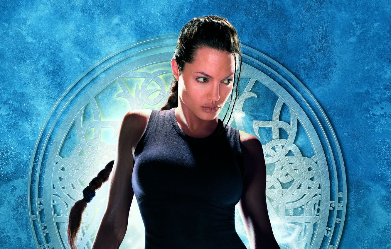 Photo wallpaper girl, background, Angelina Jolie, Angelina Jolie, Lara Croft, poster, Lara Croft, Lara Croft: tomb raider, …