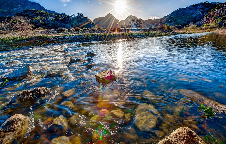 Photo wallpaper HDR, Landscapes, Malibu