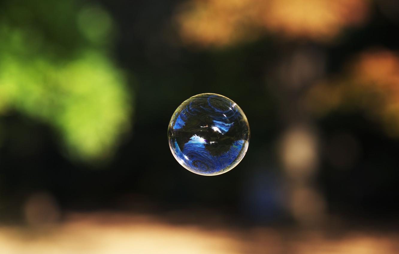 Photo wallpaper bubble, bubble, soap
