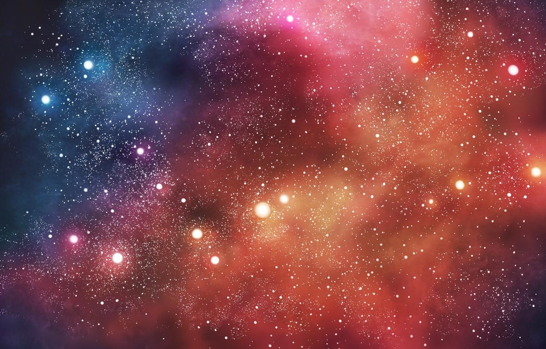 Photo wallpaper space, stars, nebula, nebula, stars