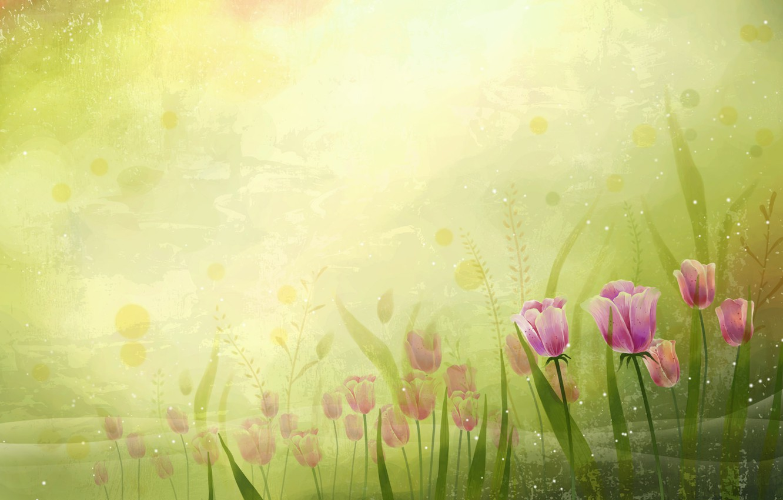 Photo wallpaper Flowers, vector