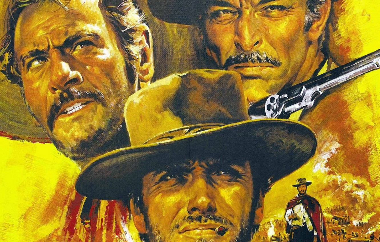 Photo wallpaper the film, goal, evil, adventure, one, three, genre, Western, Director, bad, Clint Eastwood, Clint Eastwood, …