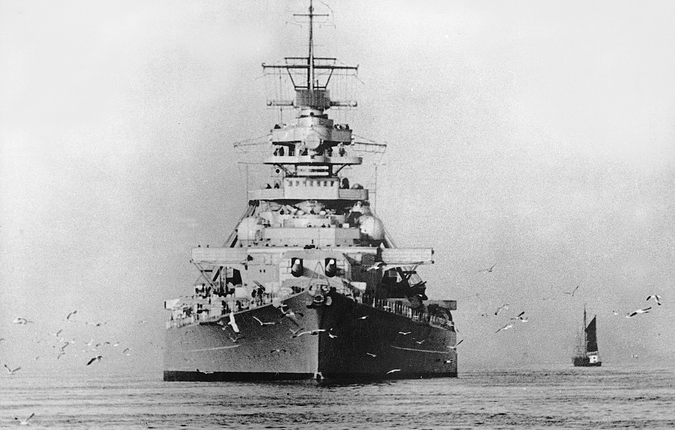 Photo wallpaper Battleship, Bismarck, 1939, Bismarck, the German Navy