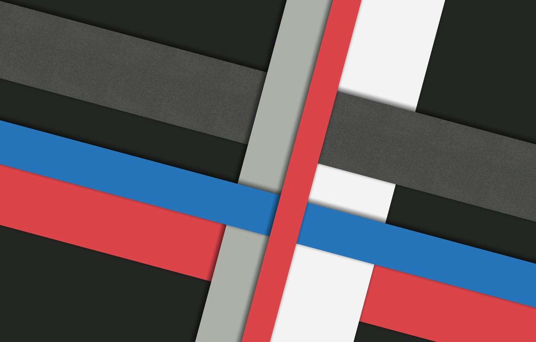 Photo wallpaper white, line, blue, red, grey, black, design, color, material