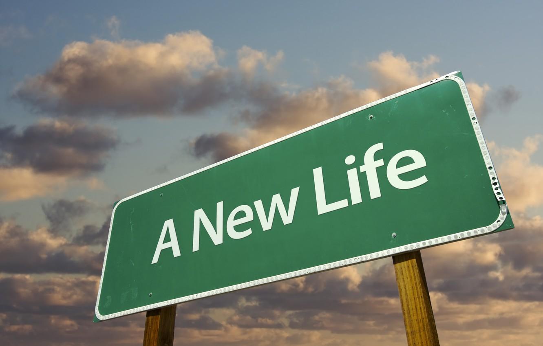 Photo wallpaper Sign, Life, New, Nova Life