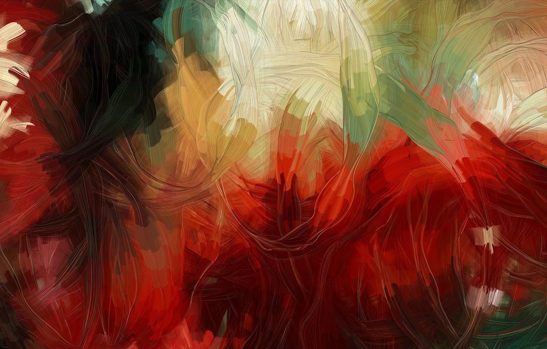 Photo wallpaper color, paint, oil, strokes
