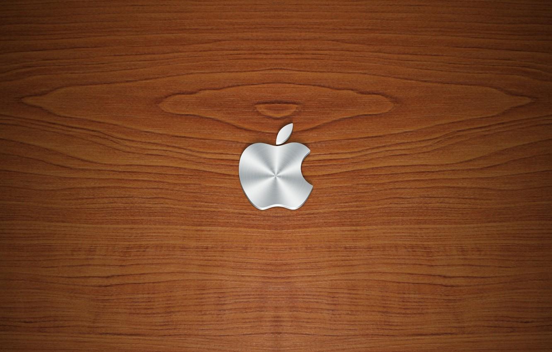 Photo wallpaper tree, apple, texture, logo