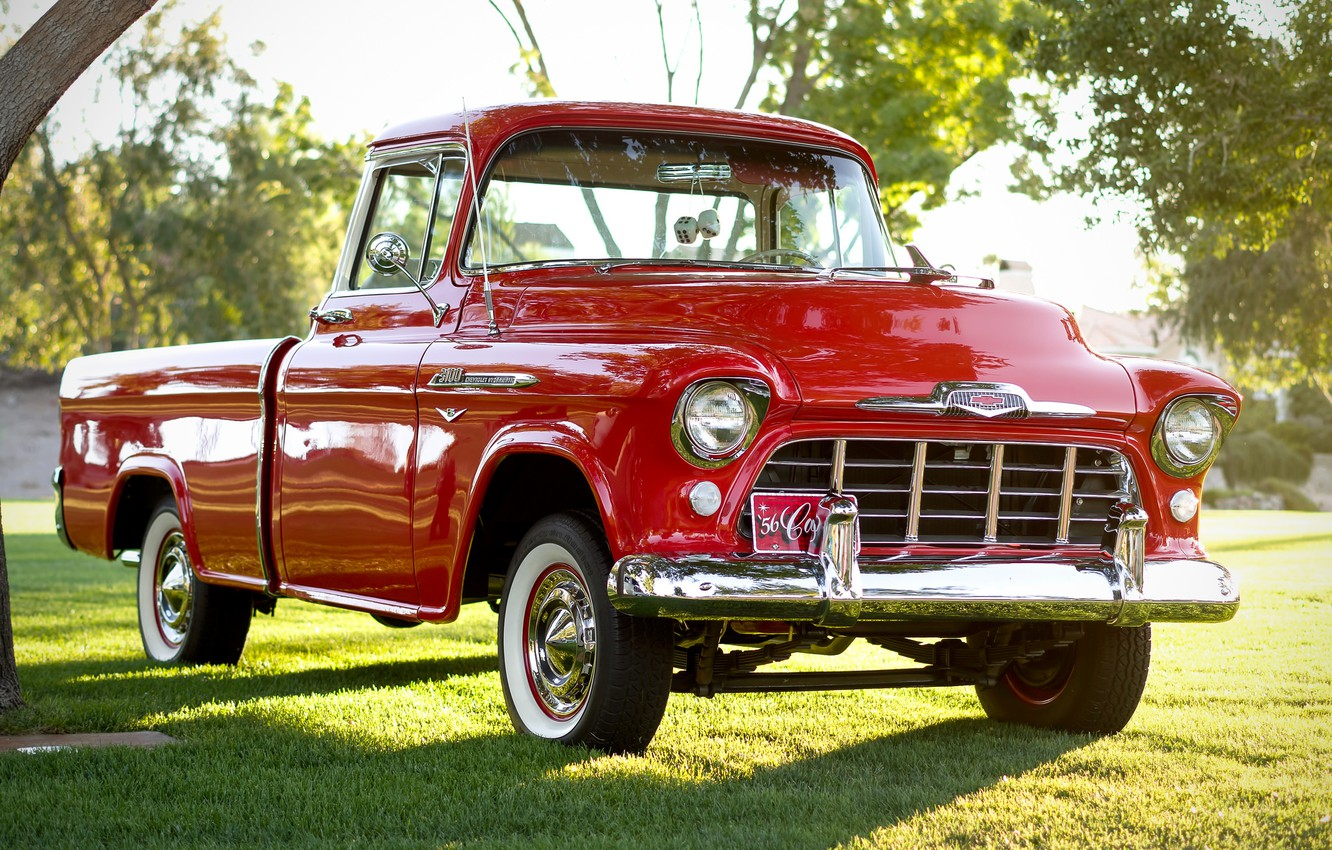 Photo wallpaper Chevrolet, classic, Chevy, the front, 1956, 3100