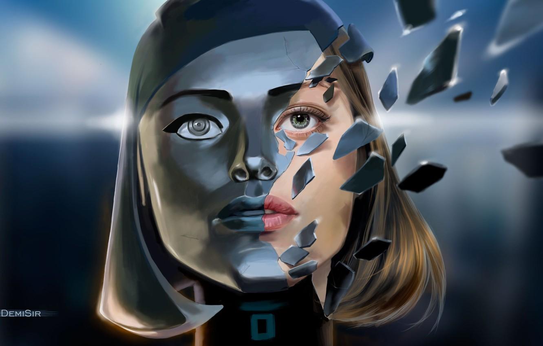 Photo wallpaper art, Mass Effect 3, EDI, synthesis
