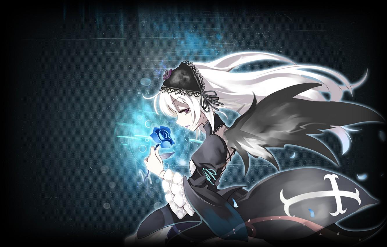 Photo wallpaper darkness, Anime, Suigintou, chrest., Rozen maiden