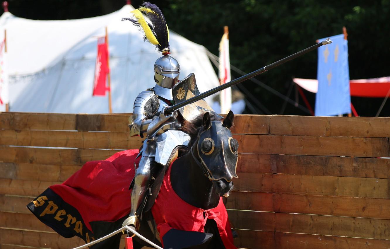 Photo wallpaper metal, horse, horse, armor, warrior, knight, tournament