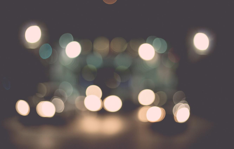 Photo wallpaper lights, a lot, bokeh
