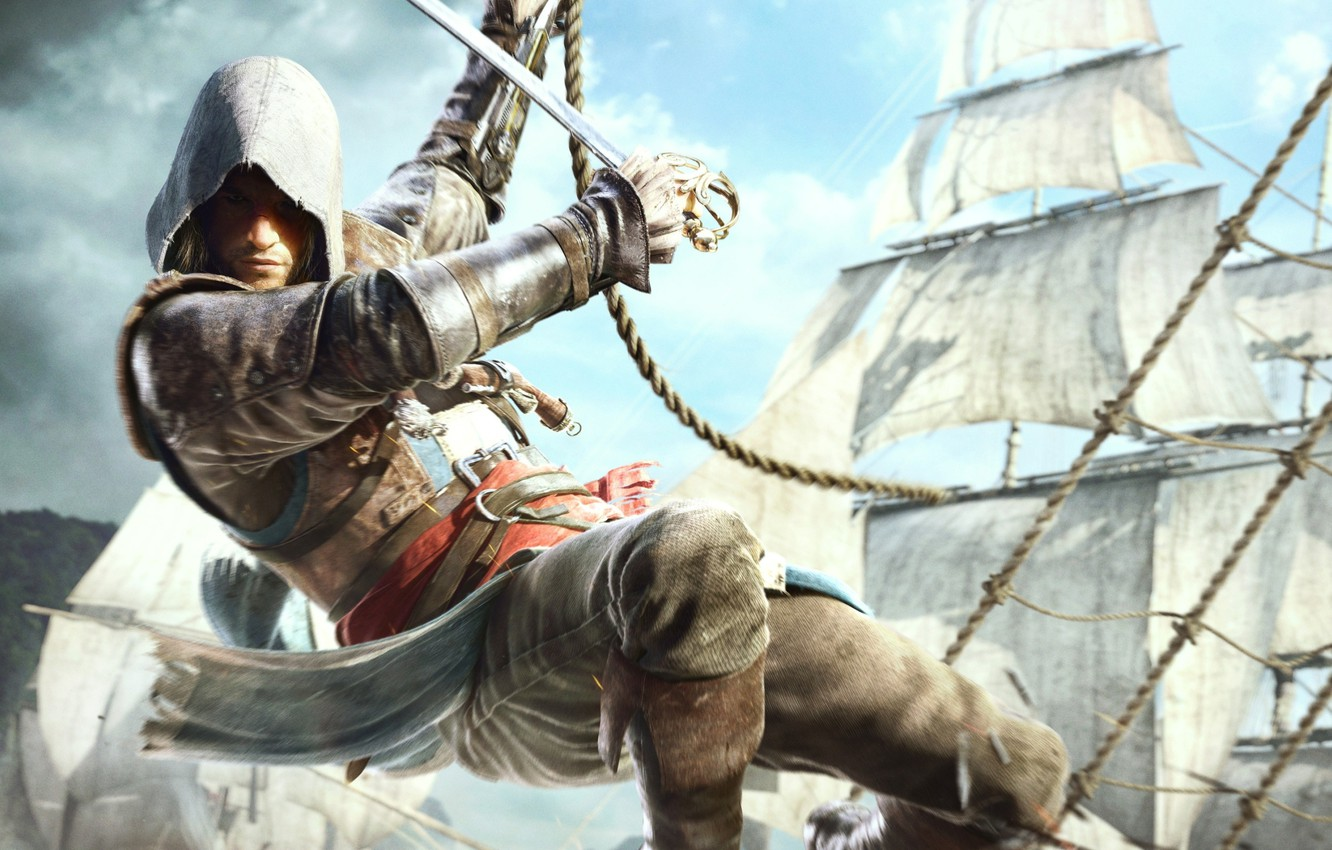 Wallpaper Ships Pirate Edward Kenway Assassin S Creed Iv Black