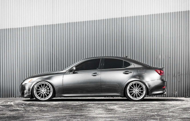 Photo wallpaper Lexus, Machine, Lexus, Drives, Side view, Silver