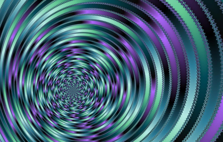 Photo wallpaper circles, abstraction, illusion