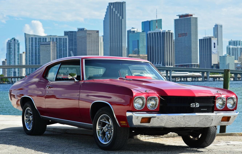 Photo wallpaper Chevrolet, Red, Chevelle