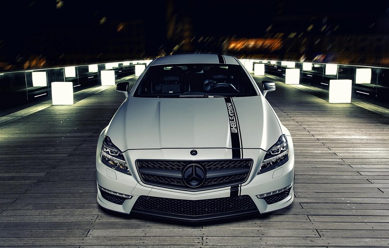 Photo wallpaper night, tuning, Mercedes, Mercedes Benz CLS