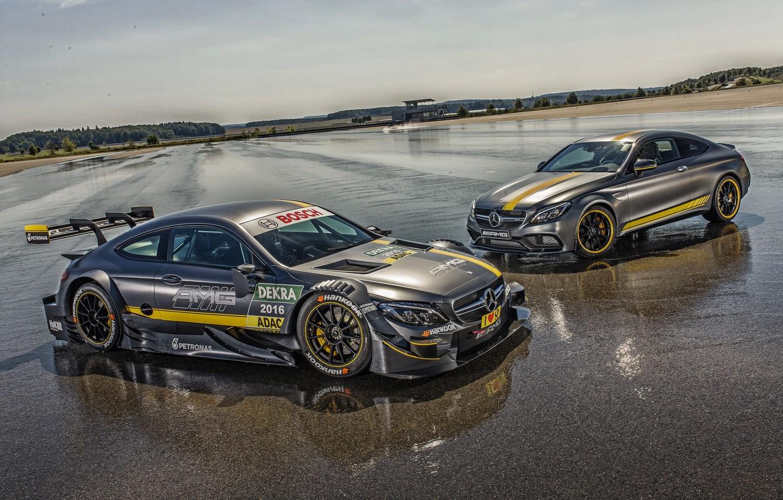 Photo wallpaper Mercedes-Benz, Mercedes, AMG, DTM, AMG, C 63, 2014, C-Class, C205, Cope