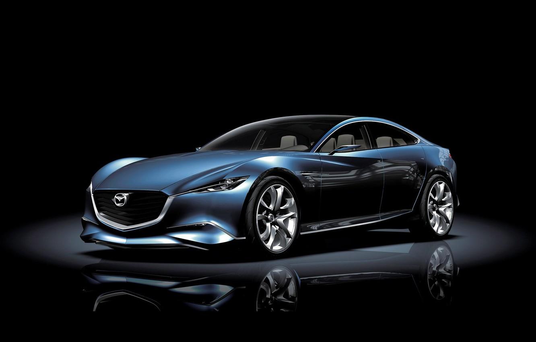 Photo wallpaper machine, auto, dark, the concept, Mazda