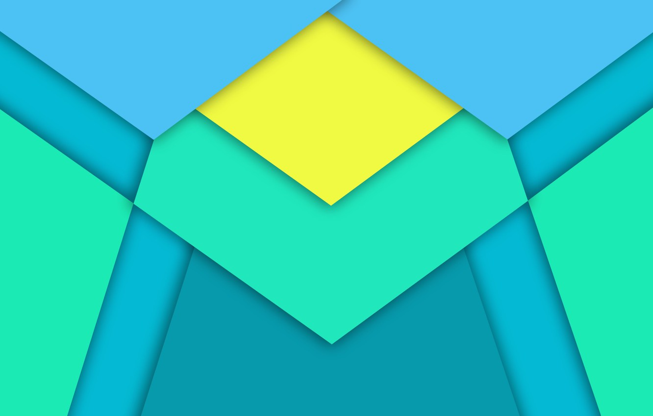 Photo wallpaper Android, Blue, Design, 5.0, Line, Yellow, Lollipop, Stripes, Abstraction, Material