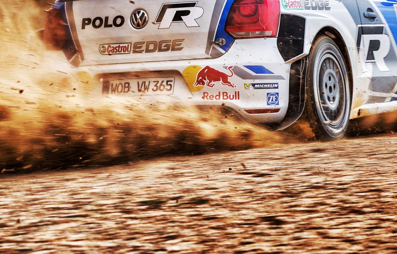 Photo wallpaper Dust, Volkswagen, Background, WRC, Rally, Rally, Polo, Slip