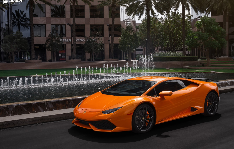 Photo wallpaper Lamborghini, Vorsteiner, Wing, Huracan, Install