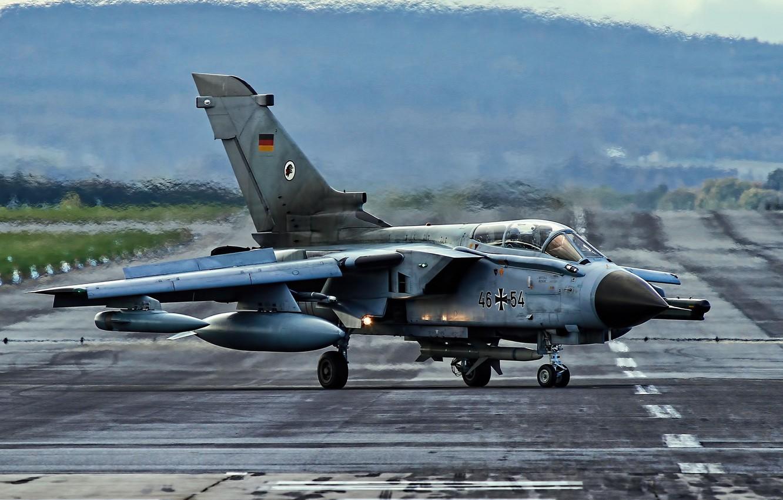 Photo wallpaper fighter, German, bomber, the airfield, Panavia Tornado