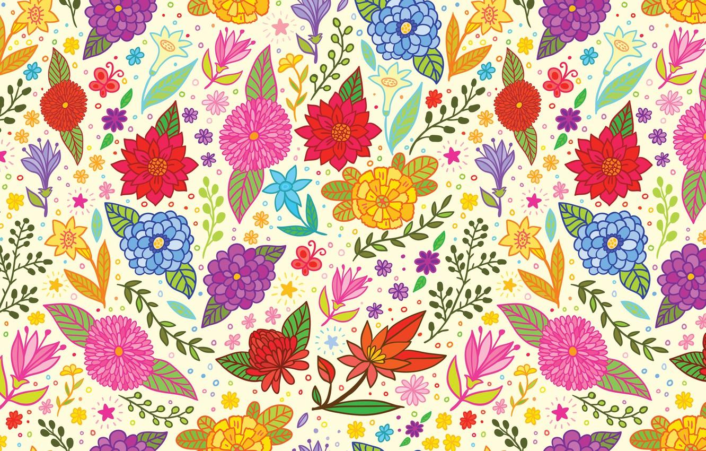 Photo wallpaper flowers, texture, art, art, pattern