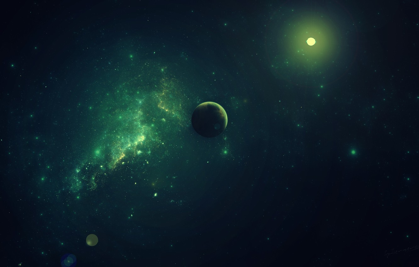 Photo wallpaper space, stars, space, planet, case zeraphine