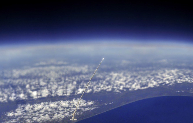 Photo wallpaper the atmosphere, space, Rocket, start, rocket, launching