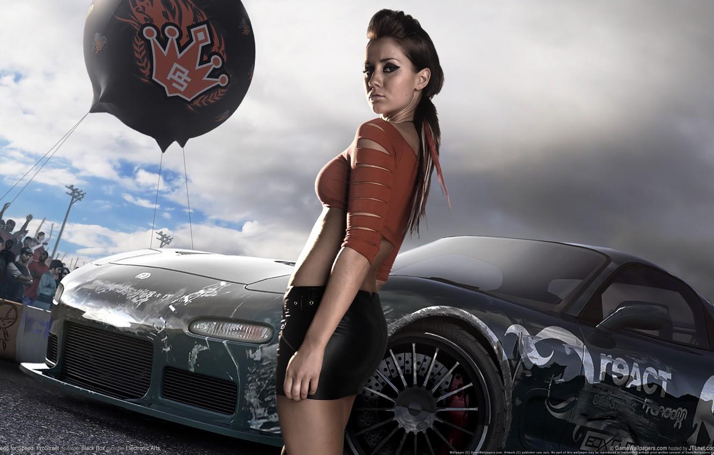 Photo wallpaper girl, the game, race