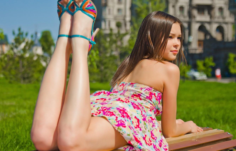 Photo wallpaper girl, legs, Anastasia Nekorkina