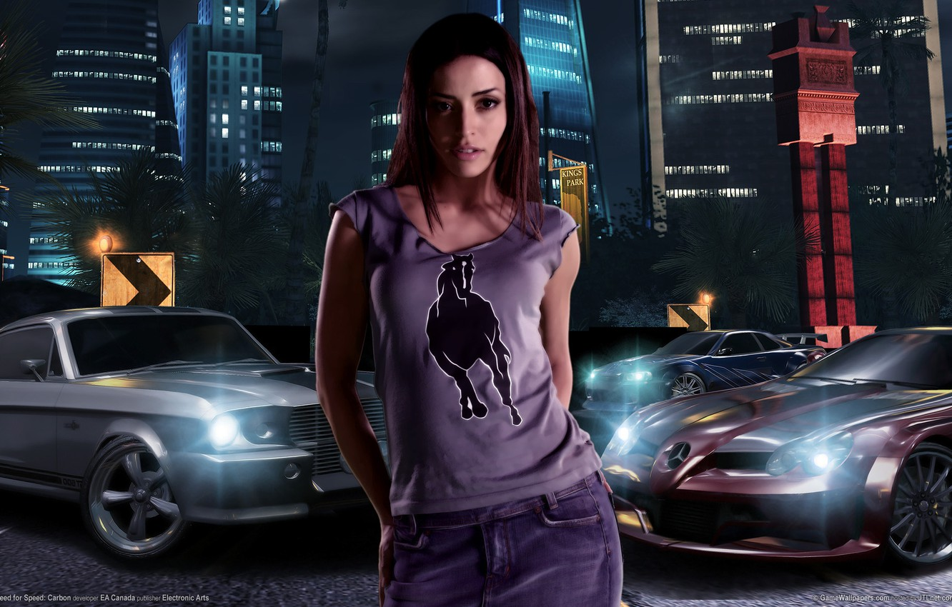 Photo wallpaper need for speed, nfs, carbon, Emmanuelle Vaugier