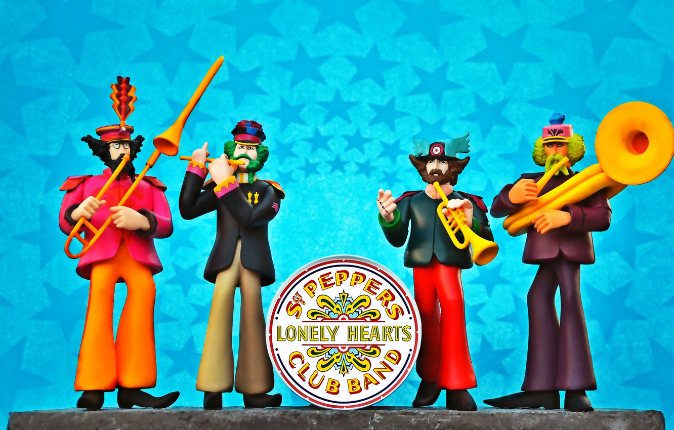 Wallpaper The Beatles Yellow Submarine Sgt Peppers Lonely Hearts