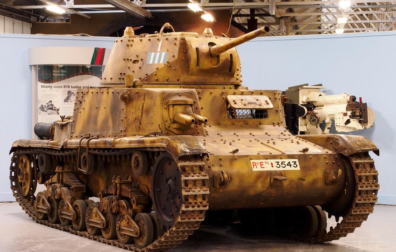 Photo wallpaper tank, Italian, average, WW2, sandy variant, Carro armato, M13/40