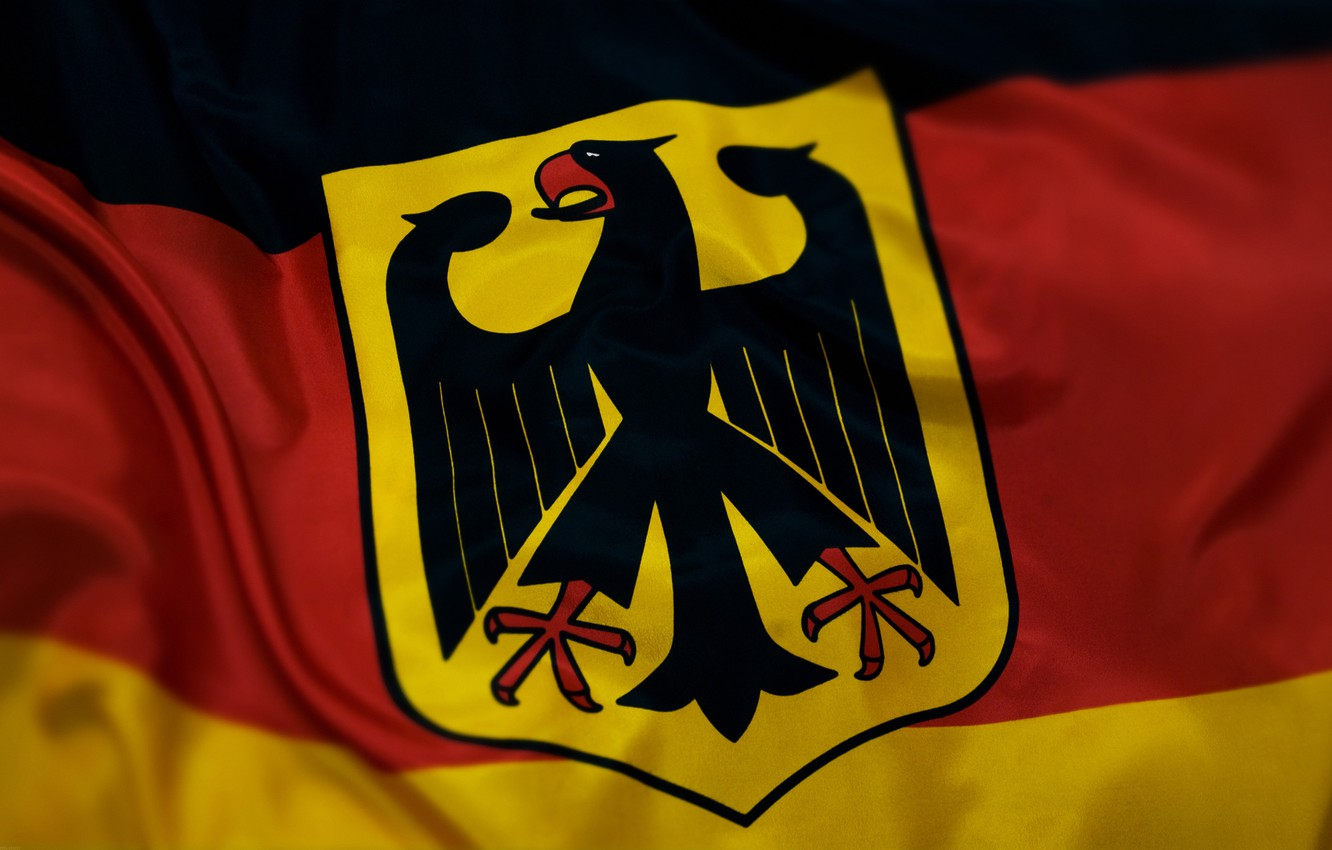 Photo wallpaper flag, coat of arms, Germany