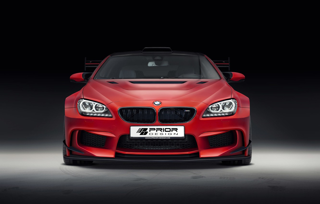 Photo wallpaper BMW, red, tuning, coupe, prior design, f13