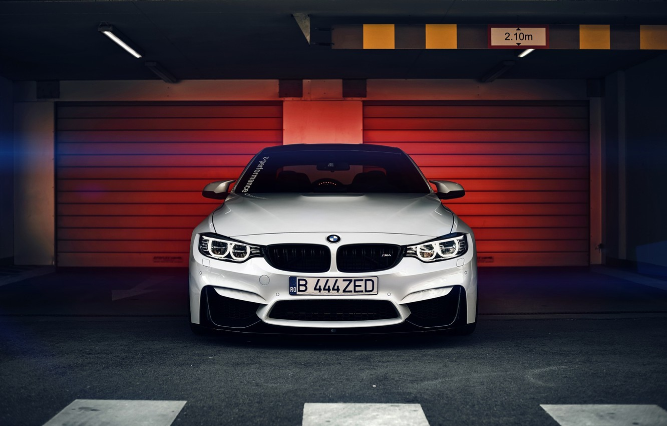 Photo wallpaper BMW, white, Coupe, front, F82