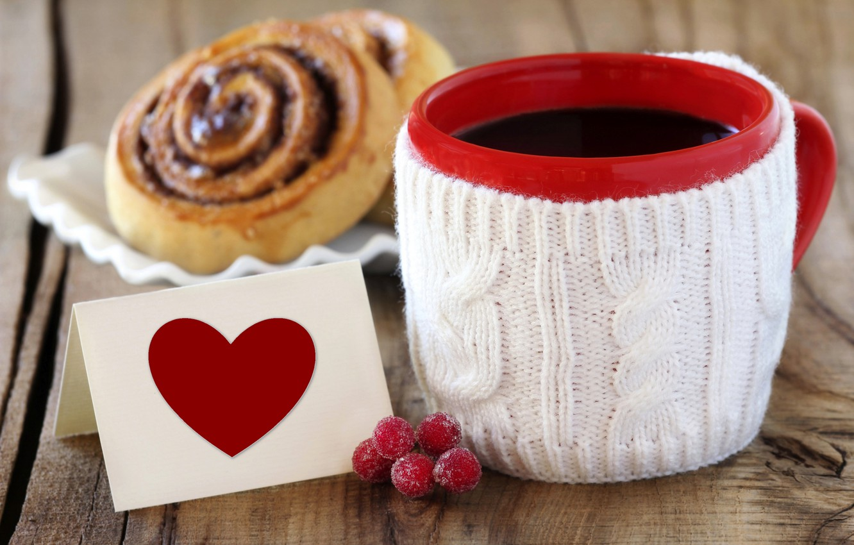Photo wallpaper love, heart, coffee, Cup, love, dessert, heart, sweet, sweet, dessert, coffe
