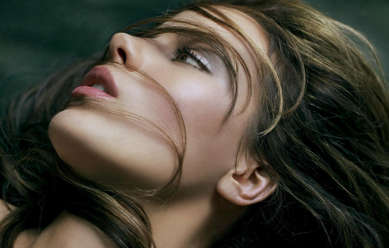 Photo wallpaper girl, hair, makeup, 152