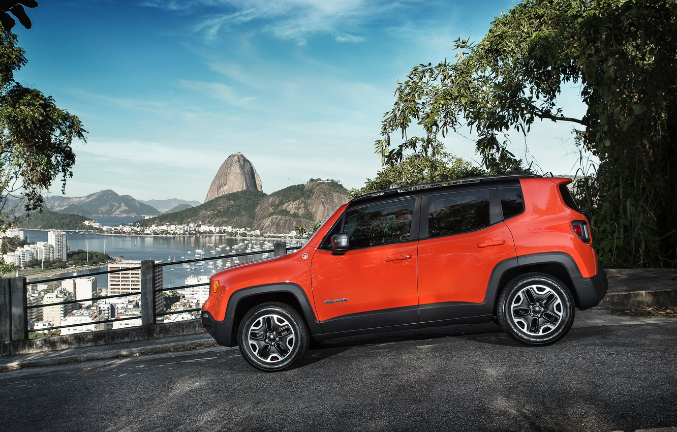 Photo wallpaper jeep, Jeep, Trailhawk, 2015, Renegade, BR-spec, renegade